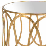 gold accent table end tables safavieh detail share this product drum lamp shades vitra chair replica antique round pedestal canopy umbrella rustic metal and wood inch cement base 150x150