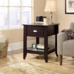 gold and glass accent table probably fantastic unbelievable modern shoal creek smartcenter side sauder end with charging ports small round dining set reading tall skinny bedside 150x150