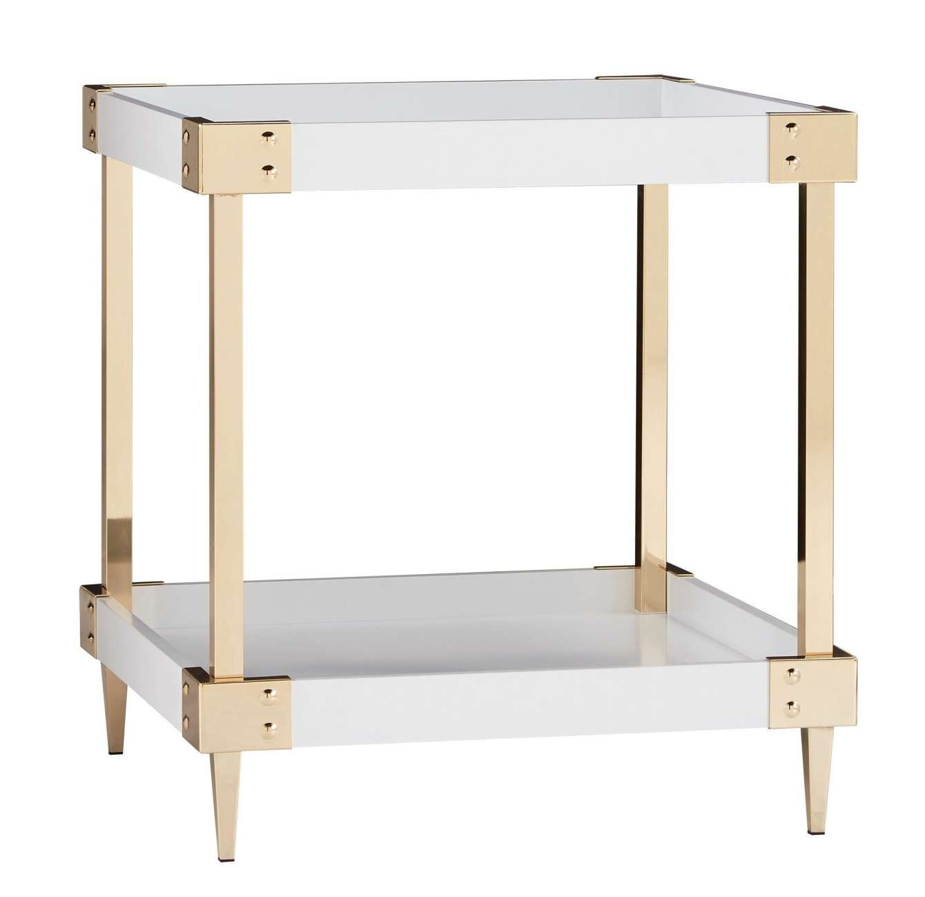 gold and glass desk also luxury accent end table white inspire marble tall narrow sofa tiered side sun umbrella base outdoor daybeds clearance kitchen chairs baroque console world