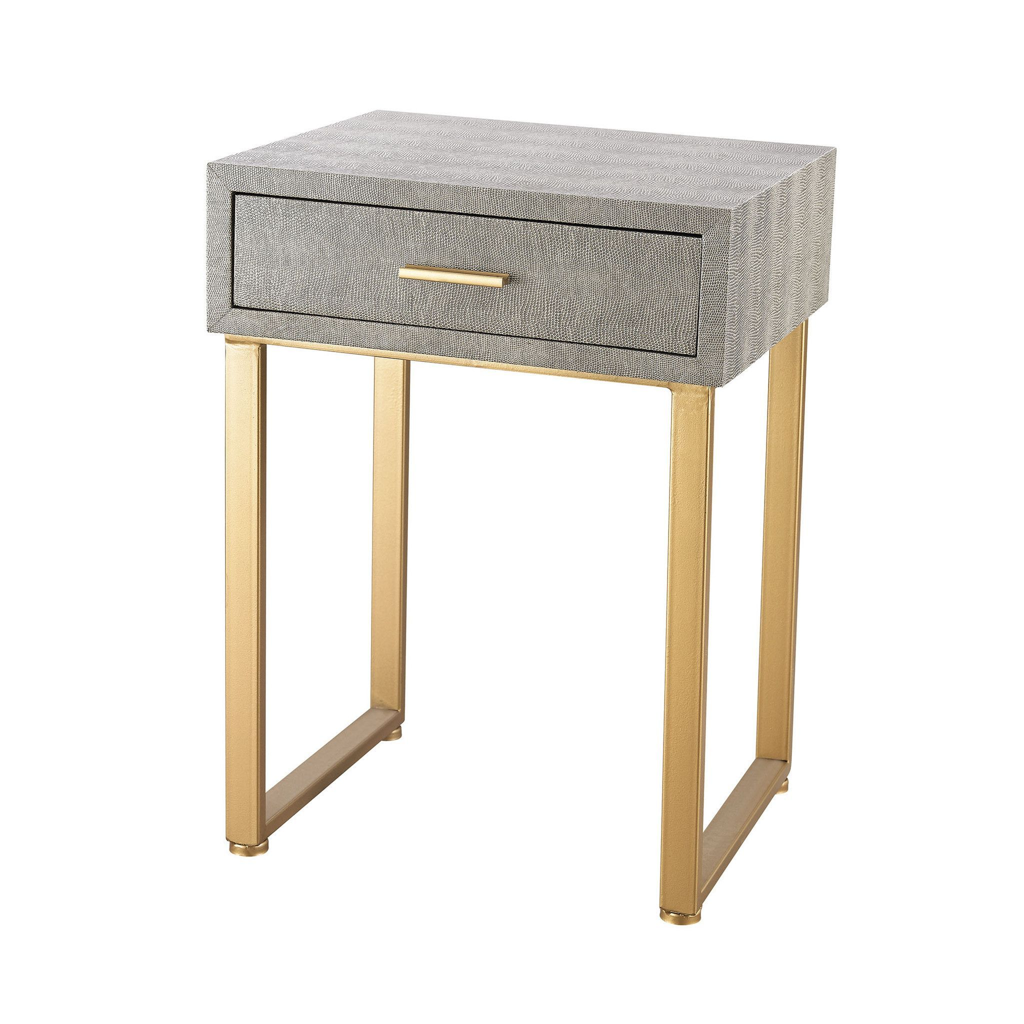 gold and grey beaufort point accent side table with drawer night corner wine cabinet target industrial coffee tablecloth measurements black outdoor marine style lighting