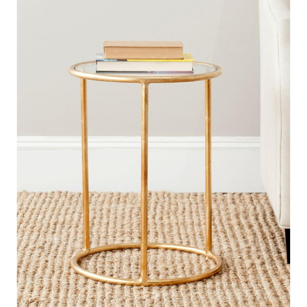 gold arrow glass top accent end table adjustable height side safavieh shay the home hourglass steel west elm mobile chandelier affordable bedroom sets retro furniture ikea black