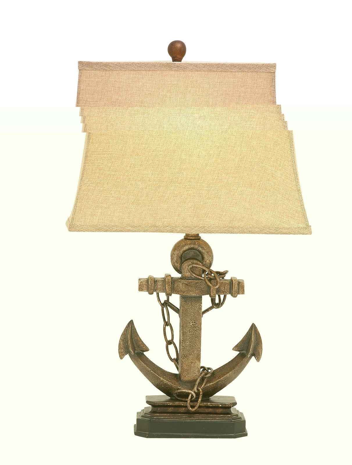 gold brass colored ship anchor accent table lamp nautical ocean lamps sea decor entry and mirror set battery operated ikea best outdoor umbrellas antique kidney home stuff