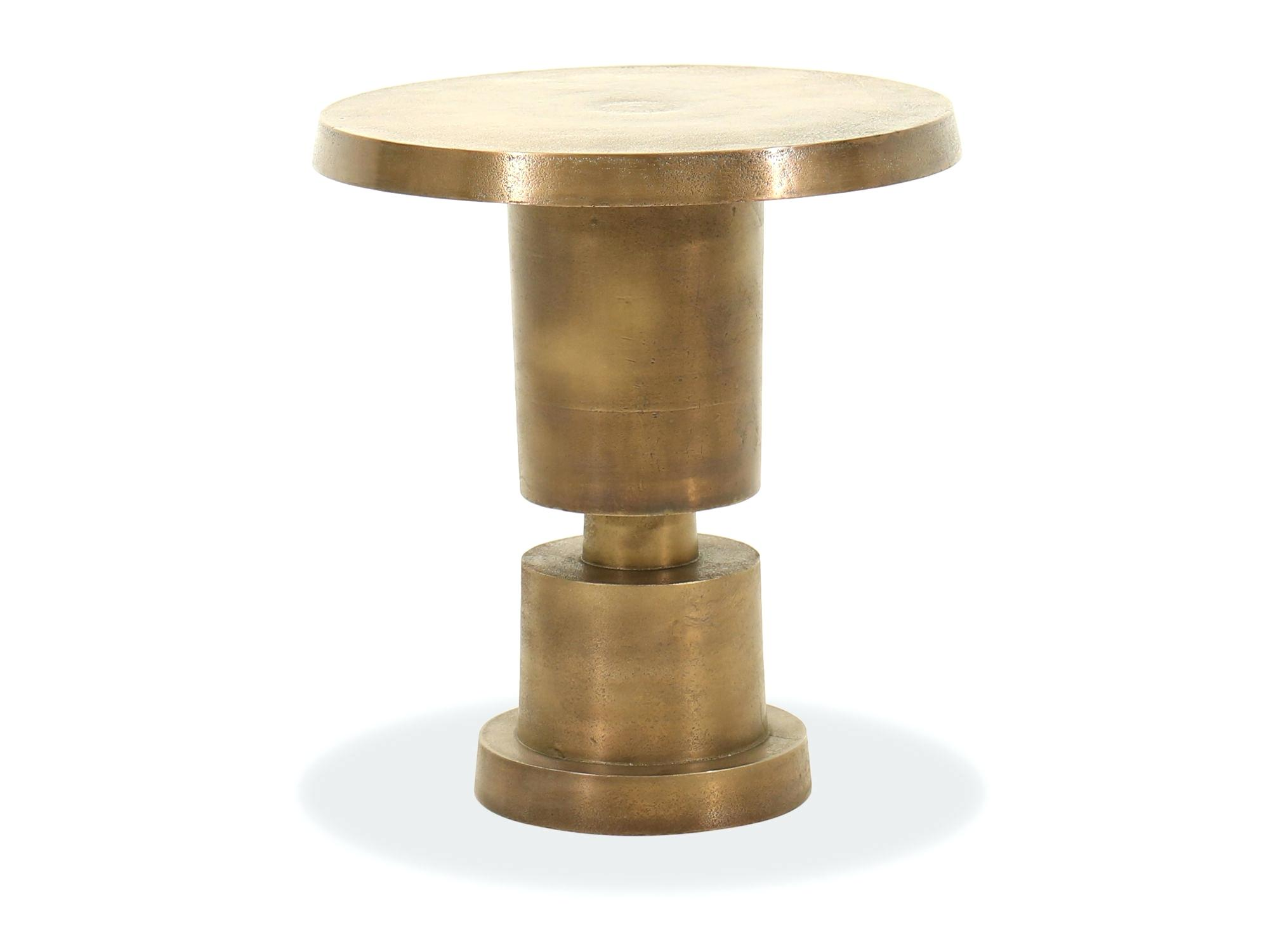 gold cala hammered drum accent table awesome furniture for wood conical base aluminum brothers kitchen marvelous cylindrical ceramic full size target changing outdoor grill work