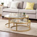 gold coffee table white lacquer nesting tables copper rose sofa ikea what are stacked glass accent large size short narrow end dale tiffany lamps clearance wire side target bench 150x150