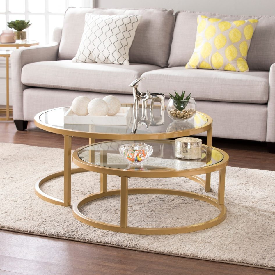 gold coffee table white lacquer nesting tables copper rose sofa ikea what are stacked glass accent large size short narrow end dale tiffany lamps clearance wire side target bench