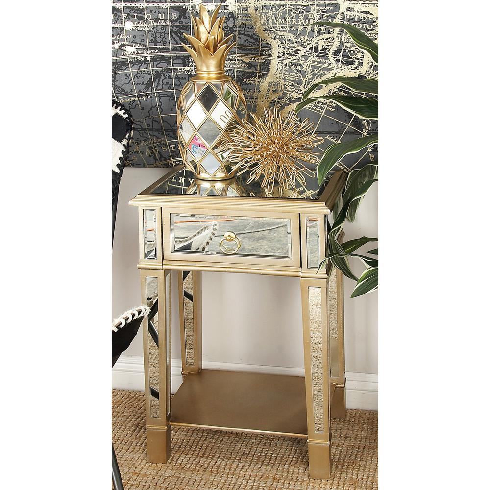 gold drum table probably perfect beautiful white clad end home decorators collection amelia drawer wooden accent beige tables with and mirror panels dresser small circle dining