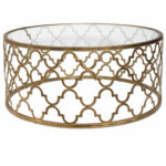 gold end table tables with glass top target ikea accent uttermost quatrefoil coffee metal round wicker ott counter height dining room sets temple furniture inch high wrought iron 150x150