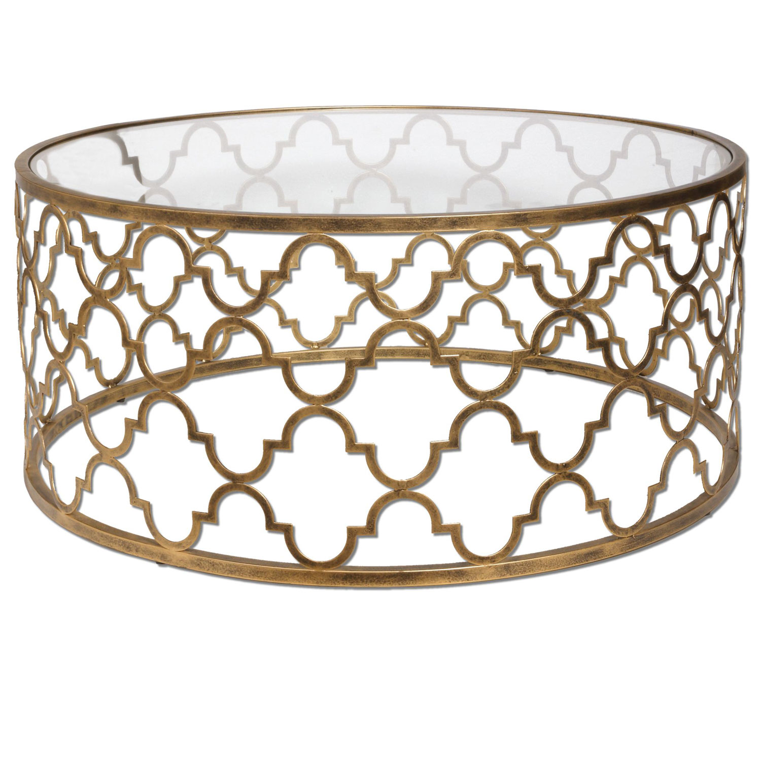 gold end table tables with glass top target ikea accent uttermost quatrefoil coffee metal round wicker ott counter height dining room sets temple furniture inch high wrought iron