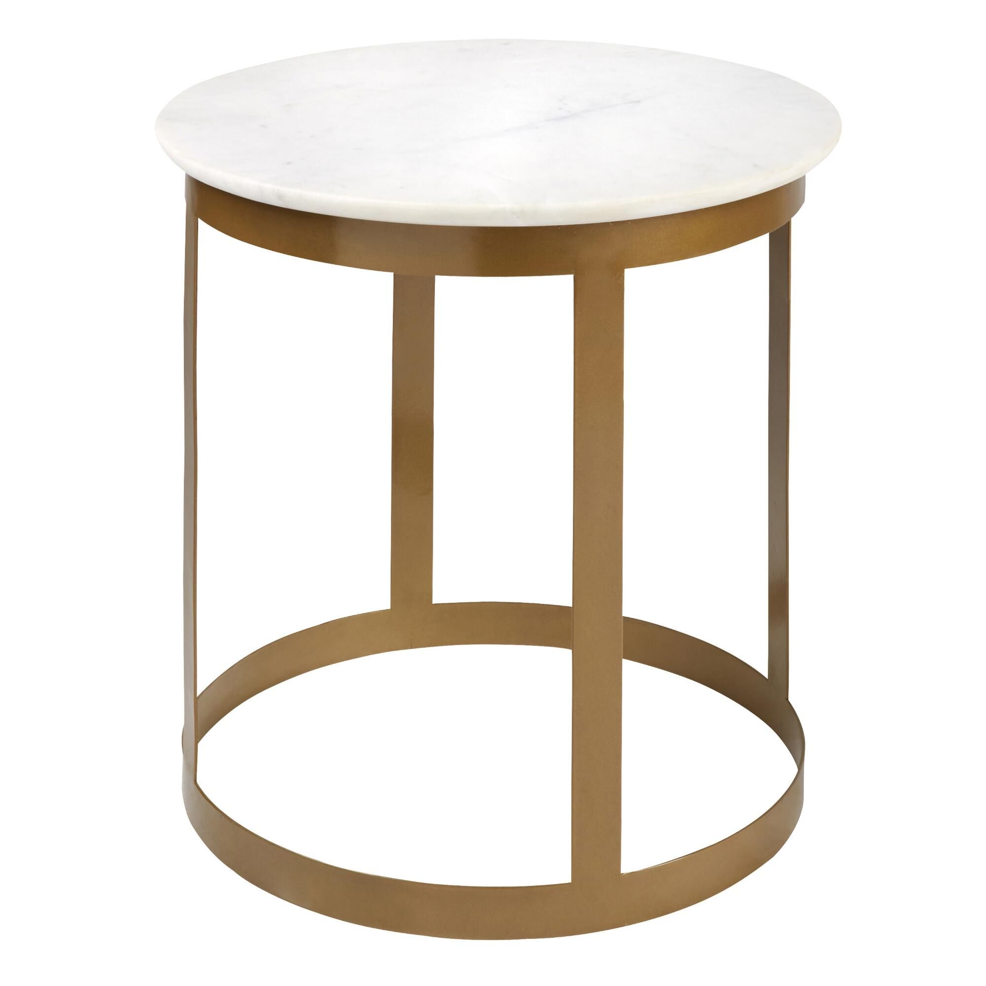gold frame round accent table with marble top tree marbles base target give your decor the golden touch our adds lux simple sofa west elm ott drop down leaf tile patio furniture