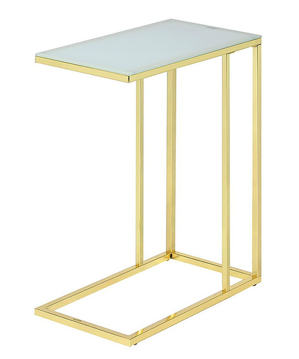 gold frosted glass end table foxhill trading company zulily darley accent target zulilyfinds solid wood coffee with drawers oak plant stand large cloth white side and sets storage