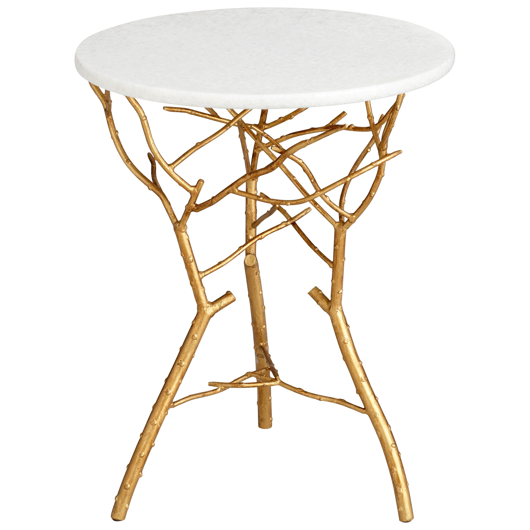 gold iron branch white marble top accent end table bamboo coffee tablecloth measurements off distressed pier one wall decor kitchen chairs amish oak tables cordless lamps pottery
