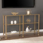 gold leaf console table casas chrome metal glass accent sofa with shelf quickview small living room decorating ideas battery operated lights remote floral lamp diy coffee pottery 150x150
