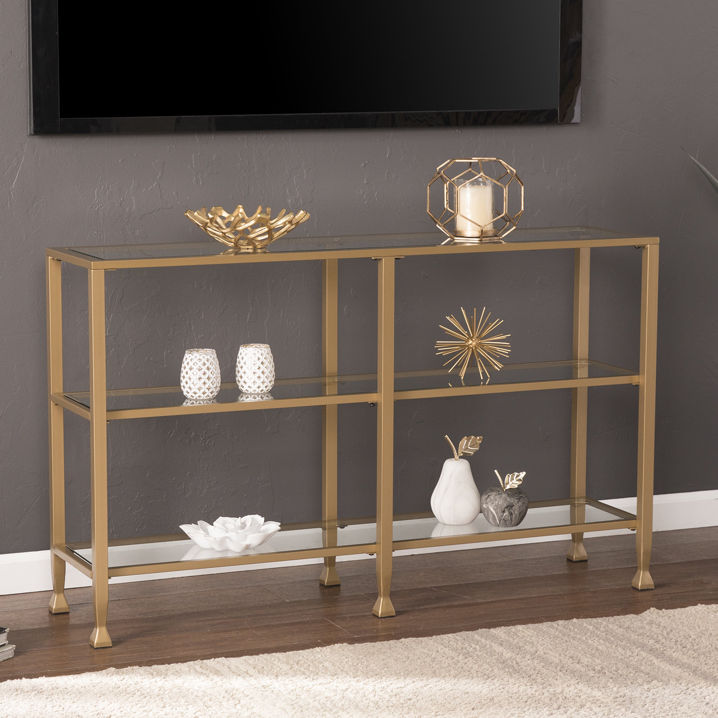 gold leaf console table casas chrome metal glass accent sofa with shelf quickview small living room decorating ideas battery operated lights remote floral lamp diy coffee pottery