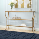 gold leaf console table celina chrome metal glass accent sofa with shelf small outdoor patio umbrellas resin coffee bar bunnings ornamental lamps purple chair diy white storage 150x150