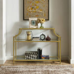 gold leaf console table nadia chrome metal glass accent sofa with shelf purple chair armchairs for living room white corner end round concrete dining and silver lamps small 150x150