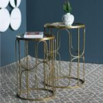 gold leaf design group society accent table set modish tables pool umbrellas bunnings white wicker furniture pier one round quilted toppers timber trestle legs wood patio side 150x150