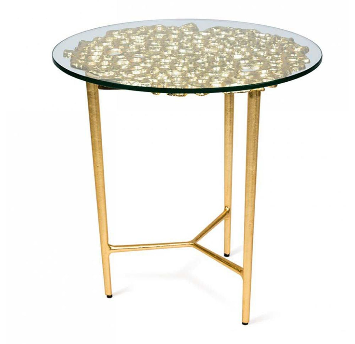 gold leaf design group sponge accent table modish emerald coffee ellipsis off white and end tables distressed entry stacking side vanity small silver lamps tall target lucite