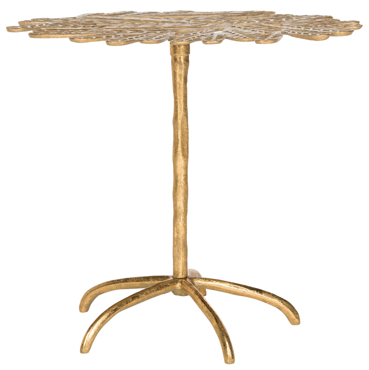 gold leaf side table accent tables safavieh front share this product off white coffee and end outdoor cooler bbq prep cart driftwood circular cover small silver lamps classic