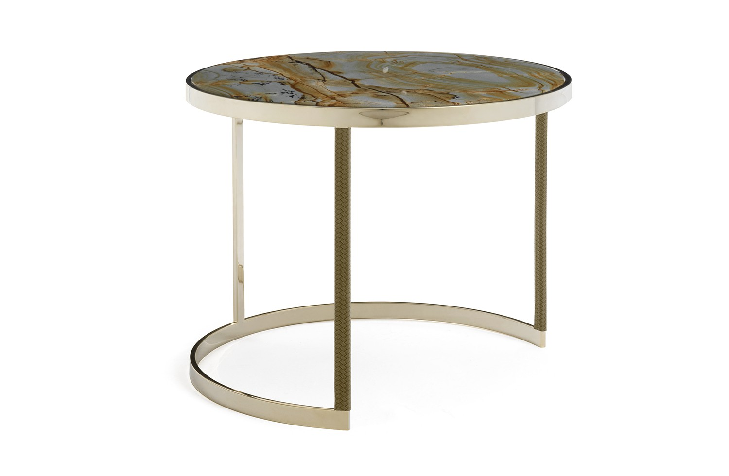 gold marble accent table granfiocco amerigo milano tavolino fiocco modello struttura pelle militare marmo roma imperiale black piece living room set tablecloth small sideboard