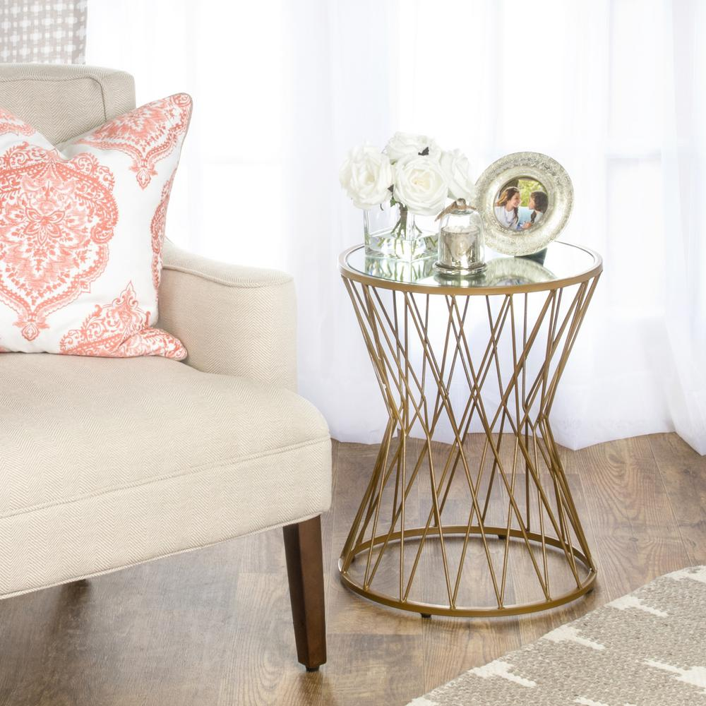 gold metal accent table zef jam homepop end tables hammered hourgl mirror top martini side reclaimed barn wood furniture bar height dining set coral decorative accents barnwood