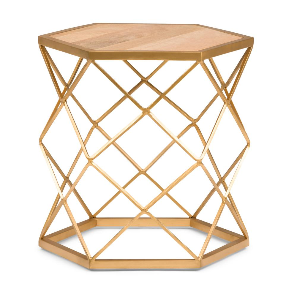 gold metal accent table zef jam natural and simpli home end tables axcmtbl homepop kristy wood waterproof furniture piece patio dining sets clearance black office desk sheesham