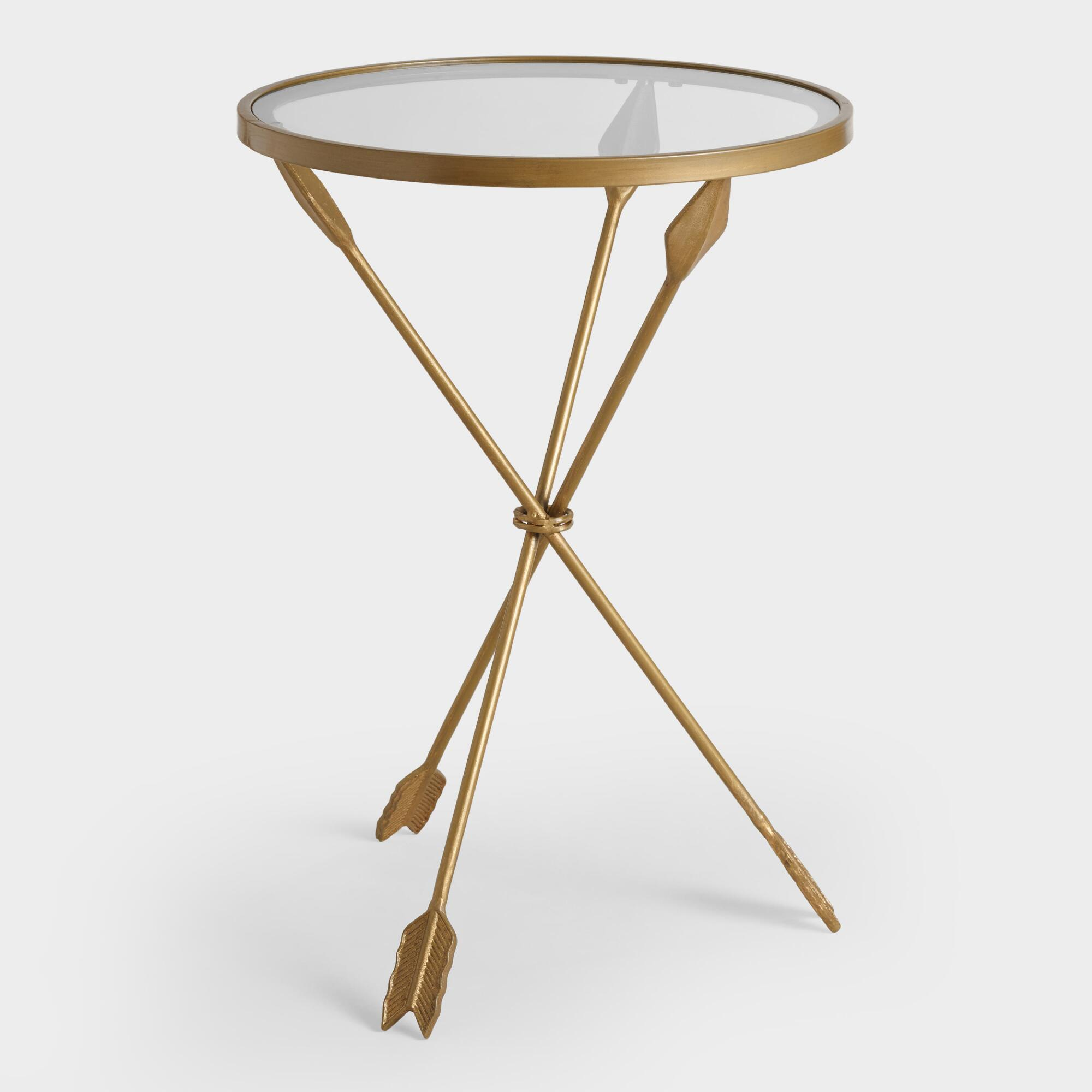 gold metal and glass arley accent table world market french montrez side size inch round fitted vinyl tablecloth bbq grill home ornaments pottery barn reading lamp dale tiffany