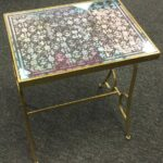 gold metal glass top accent table stock swap furniture consignment img with black nest tables jcpenney bar stools pink inch nightstand hardwood floor tile antique mirror coffee 150x150