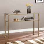 gold side table target nautical coffee and end tables seagrass with glass coastal decor drum accent ikea black cube storage rectangular patio drafting tray pottery barn french 150x150