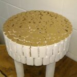 gold top handmade fir solid wood stool white accent table side rustic leave mid century scandinavian modern styles nos natura furniture decor toronto handcrafted wooden glass 150x150