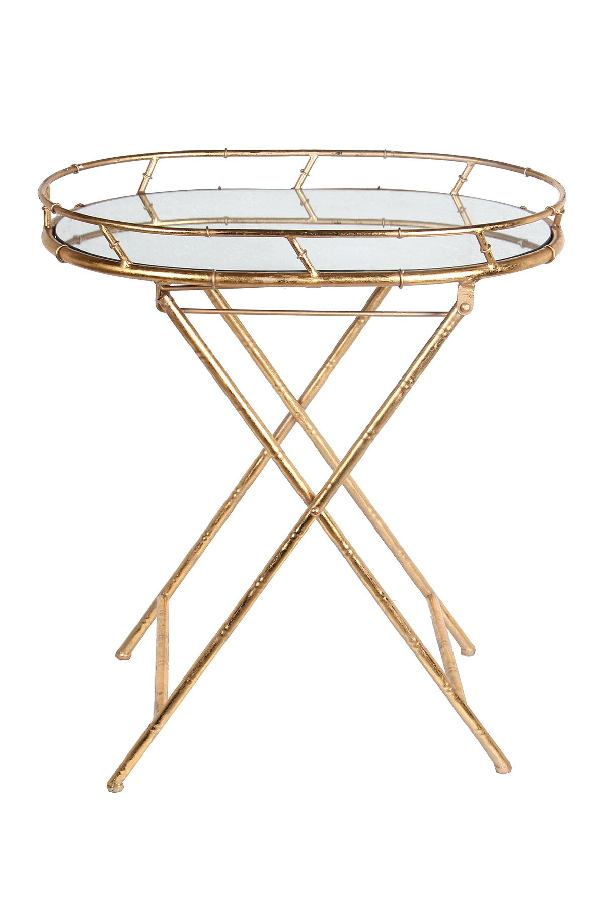 gold tray table round accent tables for bedroom dark wood privilege oval metal queen frame small black bedside console furniture bistro tablecloths end with lamp attached inch