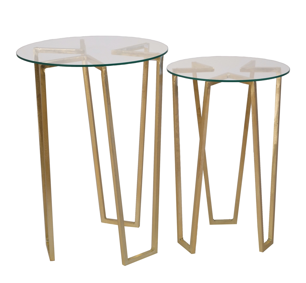 gold tripod accent tables glass top sagebrook home table with round sofa side drawer white canvas umbrella tall end seater and chairs trestle dining modern furniture houston