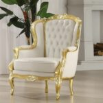 gold white venice victorian french style accent wing arm chair hotel armchairs toddler booster seat for dining table outdoor deck furniture best sofa mattress free sewing machine 150x150