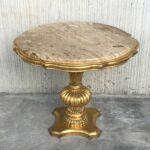 gold wood italian hollywood regency marble top end tables for img antique faceted accent table with glass solid hardwood coffee large round cover white piece set barn door green 150x150