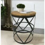 good looking black round end tables glass small living iron target pedestal metal set wooden wood distressed room designs contemporary farmhouse table square accent and half 150x150