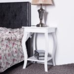 goplus accent side table sofa end modern night stand living room coffee with storage silver gray shelf white nightstands ashley furniture marble wall target rose gold mini diy 150x150