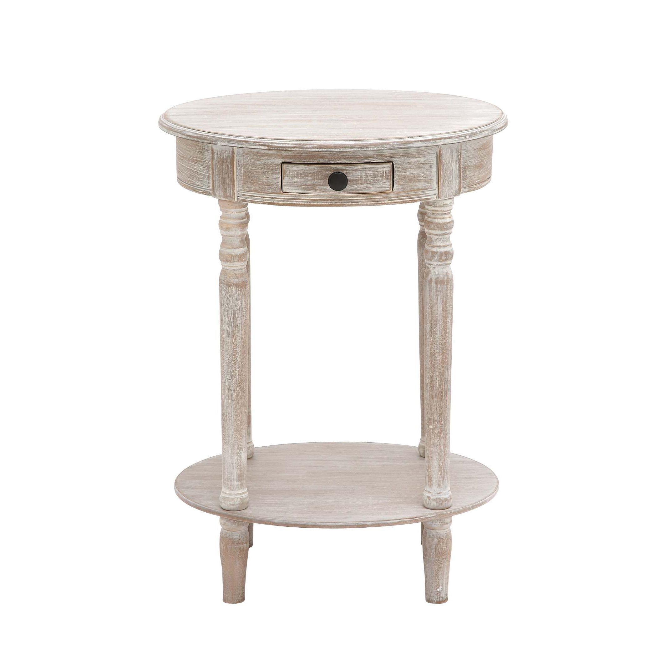 gorgeous distressed white round accent table pliva tablecloths side plastic tablet chairs glass antique pill wood and dogs top methadone abuse for toppers threshold marble metal