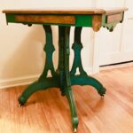 gorgeous green eastlake table end side nightstand victorian accent ethan allen console blue and white oriental lamps outdoor setting covers sofa ikea tables edmonton inch height 150x150