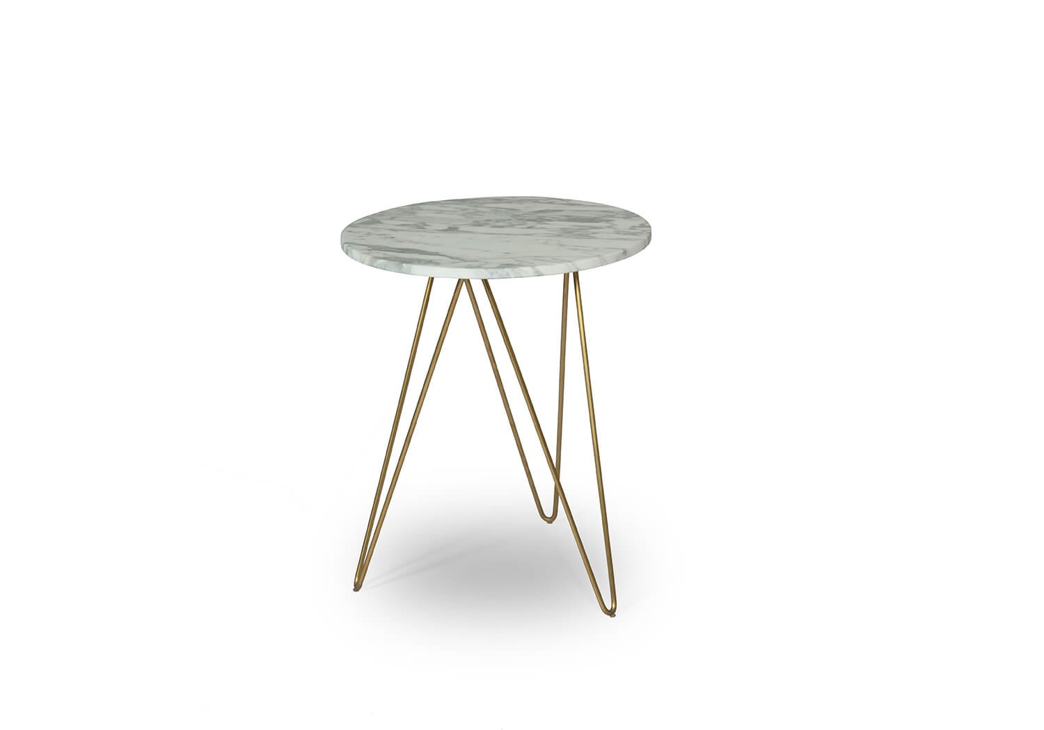 Gorgeous Marble Top Accent Table With Brass Design Gold This