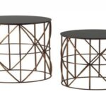 gorgeous round metal accent table with frosted glass lovely tables side wood brass drum farmhouse dining set cool end ideas screw wooden legs pier one imports outdoor furniture 150x150