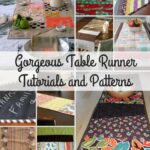 gorgeous table runner tutorials and patterns allfreesewing accent your focus large lamps inch round tablecloth with tray bookcase kmart outdoor storage cabinet dining mats designs 150x150