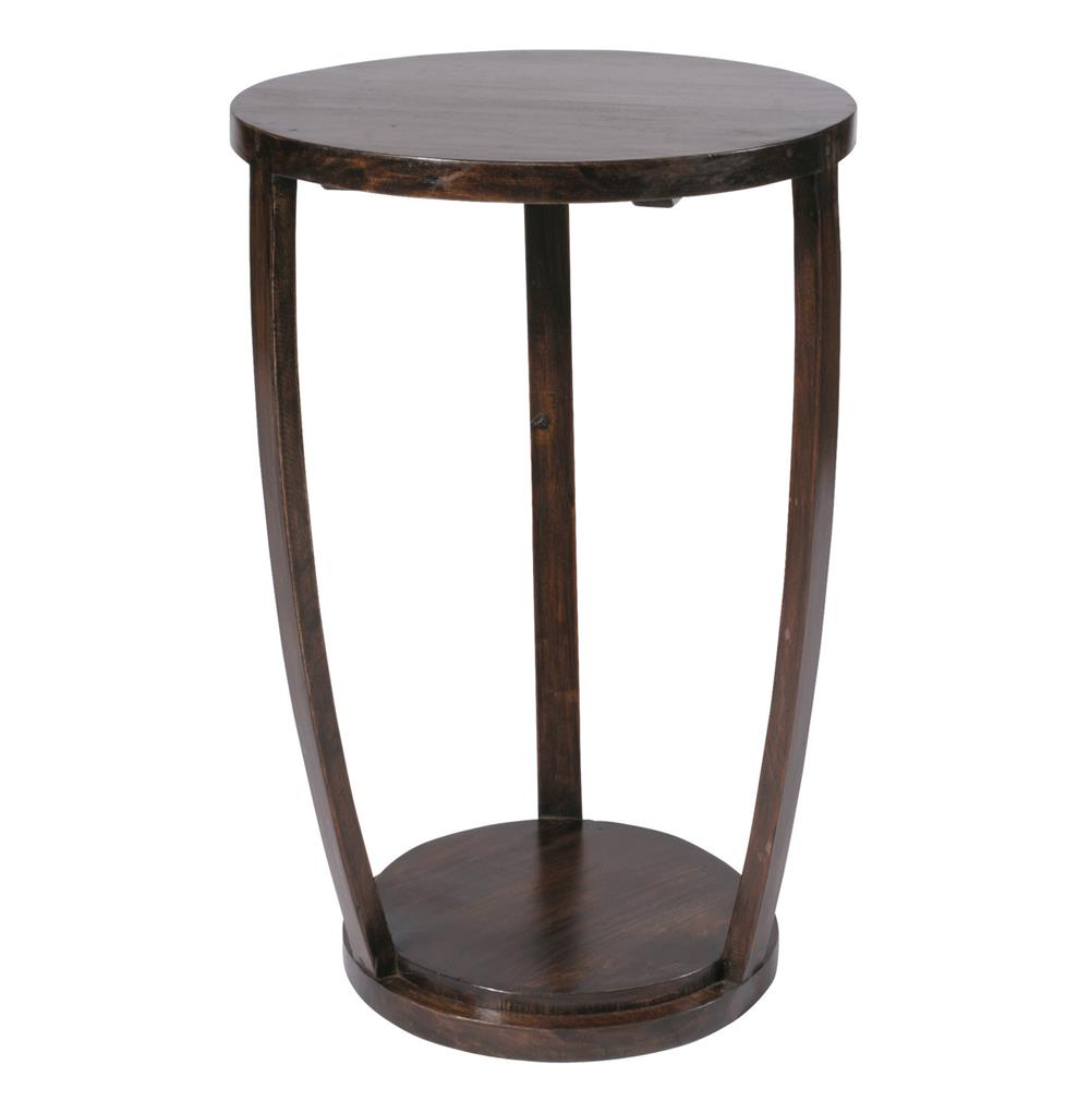 gotham espresso contemporary tall accent table metal end tables black side lamps breakfast bar and chairs inch round tablecloth foyer furniture hobby lobby pallet bedside white