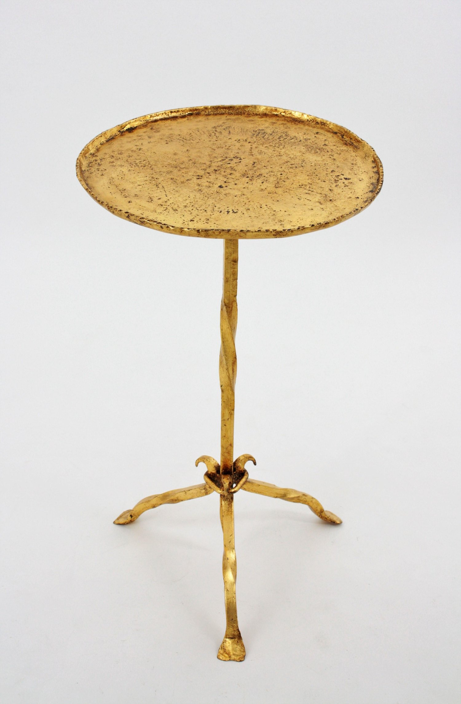 gothic style spanish hammered gold leaf gilt iron gueridon img master accent table side for inch wide nightstand west elm carpets chest cute lamps fruit cocktail drink living room