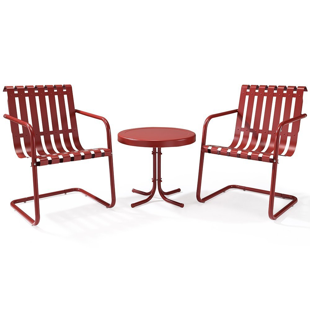 gracie piece metal outdoor conversation seating set chairs and red accent table side coral round plastic tables rustic farmhouse furniture silver coffee tray pottery barn hudson