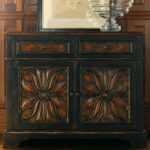 grandover wood two drawer door accent chest handpainted black twodrawertwodooraccentchest handpaintedblackhandrubbedgold table with drawers and doors handrubbed gold antique drop 150x150