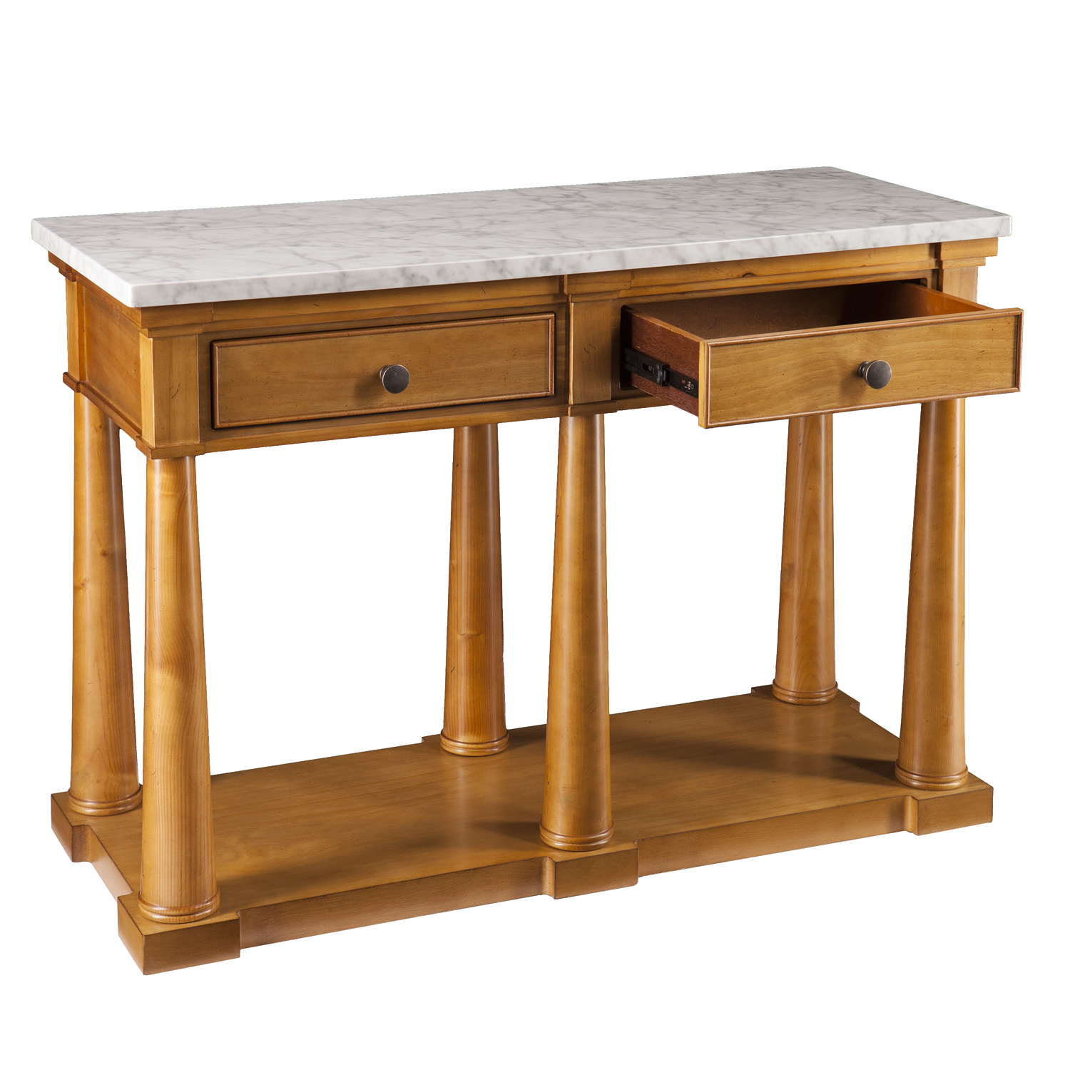 grandview faux marble console table accent tables wood convenience concepts gold coast small side white and glass end cream colored nightstand grey dining room chairs restaurant