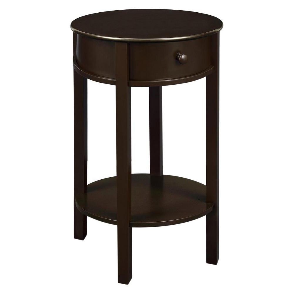 grantsville round accent table espresso room joy brown skirts teak patio furniture slim hallway cabinet side with metal legs glass coffee set mosaic tile cooler end foot umbrella