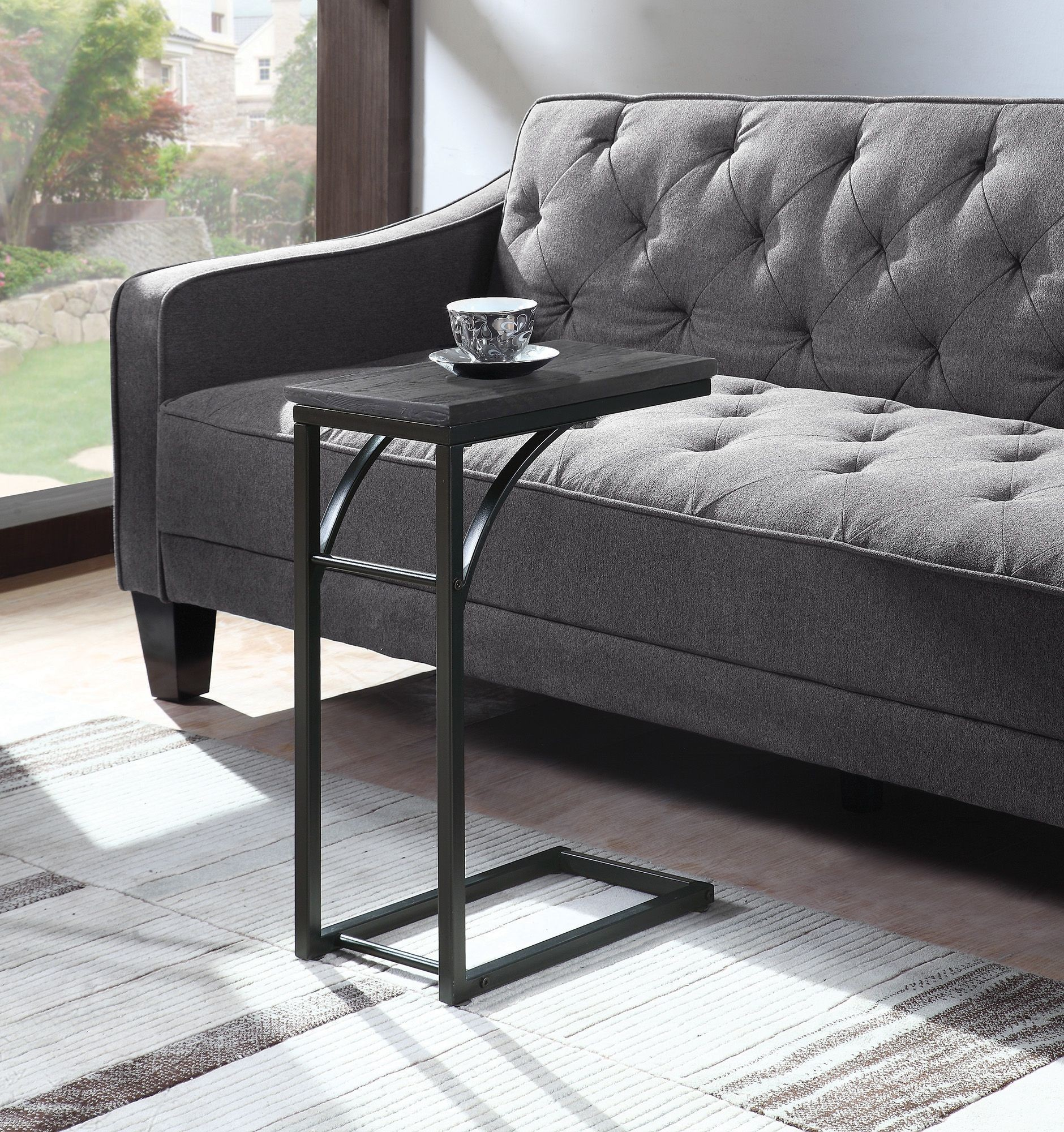 gray accent table from monarch coleman furniture weathered and black coaster safavieh janika antique nautical light fixtures sofa loveseat sets under storage ott target night
