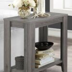 gray accent table weathered from monarch coleman furniture wedding reception decorations sunroom narrow hallway console cabinet white coffee set wood living room armchair black 150x150