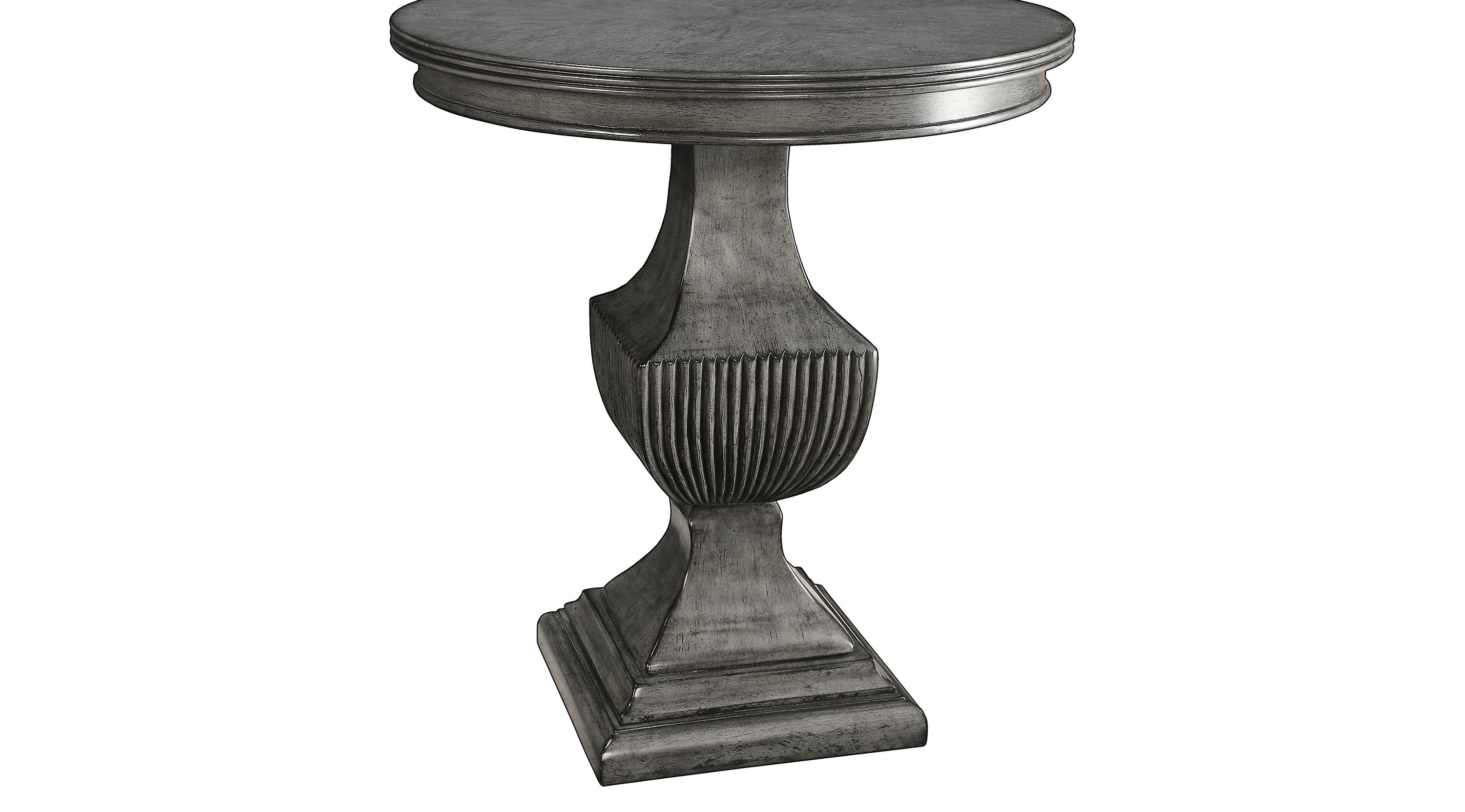 gray accent table weathered kearsley traditional threshold fretwork teal wicker drum next home nest tables round center for living room nautical dining bar height legs glass