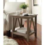 gray accent table weathered linon home decor titian rustic end threshold marble red round coffee side cabinet pine wood furniture set night stands calgary plant stand and black 150x150